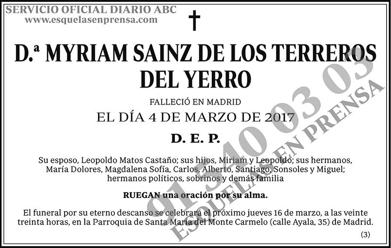 Myriam Sainz de los Terreros del Yerro